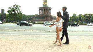Master Humiliates Female Slave In Public