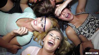 Three Sluts Cavort In The Bathroom