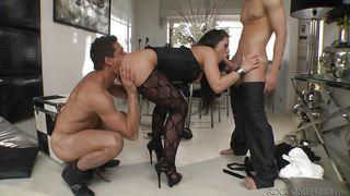Evil Angel-They Stuffed Her Wet Holes With Their Hard Meat @ Slutty Girls Love Rocco #11 PornZek.Com