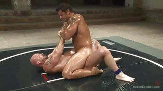 Oiled Muscled And Ready To Fight And Fuck