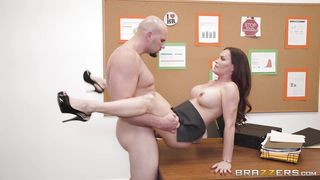 Busty Milf Gets Her Boss's Dick Deep Inside Her Pussy