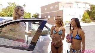 Nubiles Porn-Teen Lesbian Threesome On The Couch PornZek.Com