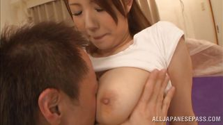 Lucky Guy Gets To Motorboat Big Breasted Japanese Slut