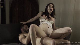 Horny Brunette Is Hungry For Cock  The Babysitter #11
