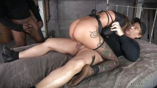 Brown Haired Bitch Bonded And Fucked
