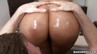 Big Ass Latina Rubbing A Cock With Her Tongue
