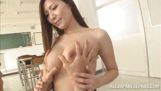 Students Grabs His Teacher's Tits