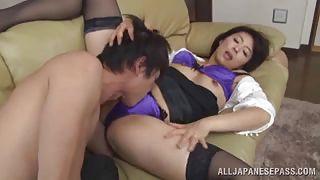 Mature Japanese Sexpot Sucks My Stiff Rod
