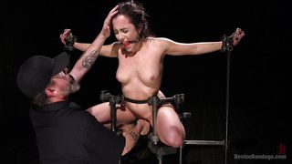 Naughty, Bound Slave Gets Her Hair Pulled And Her Pussy Fingered
