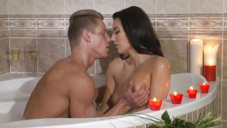 Romantic Bathing And Balls Sucking