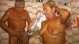 Old Nanny-Old Couple In The Shower PornZek.Com