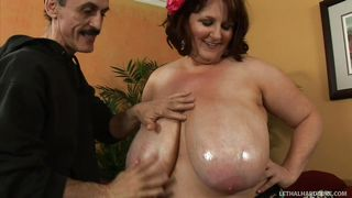 Big Fatty Pays To Have Her Tits Rubbed