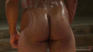 Naked Gay Hunks Wrestle On Tatami