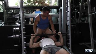 Gym Buddies Drill Each Other's Holes
