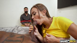 Havana Bleu Sucks Bbc While Her Husband Watches