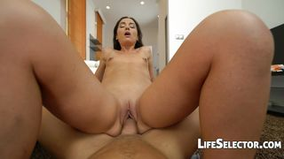 Life Selector-Small Titted Girl Plays With A Huge Dick-Nataly Gold PornZek.Com
