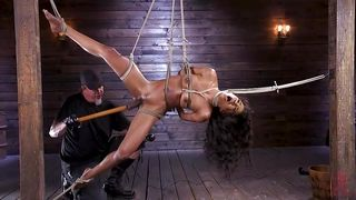 Chocolate Beauty Gets Punished And Fucked With A Dildo