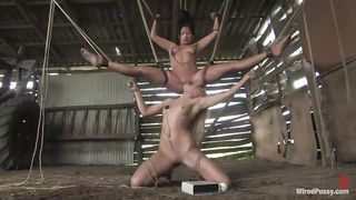 Kinky Lesbian Action In The Barn