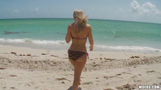 Blonde Babe And I Fuck On The Beach