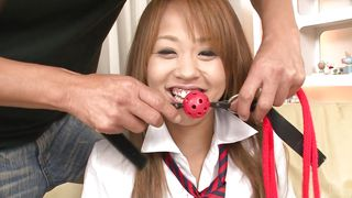 Sexy Japanese Schoolgirl Is Gagged And Groped
