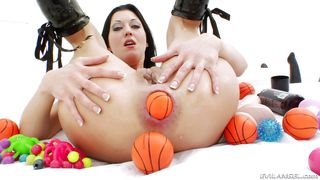 Hotkinkyjo Plays With Her Toys  Anal Acrobats #07, Scene #01