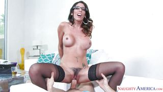 Sexy Housewife Rides Her Man's Hard Cock