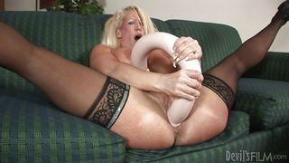Solo Milf Masturbating With Huge Dildo  My Gigantic Toys #14
