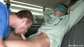Blindfolded Straight Man Gets A Gay Blowjob
