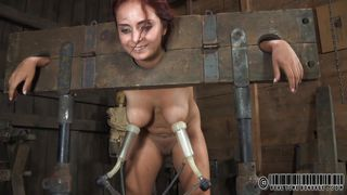 Ashley In Shackles Gets Tits Milked