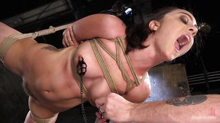 Suspended With Ropes And Fucked Hard