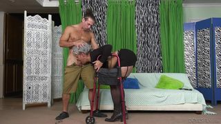 He Knows How To Cure This Granny  Horny Grannies Love To Fuck #12