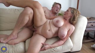 Busty Mature Gets Fucked In Sideways