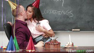 Flirty Student Is Giving Her Teacher A Birthday Present