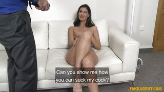 Agent Tests Her Skills At Giving Head