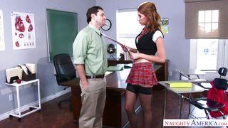 Horny Schoolgirl Sucks Dick Like A Porn Star