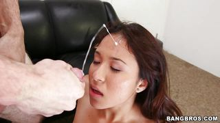 Lustful Bitch Ends Up With A Facial