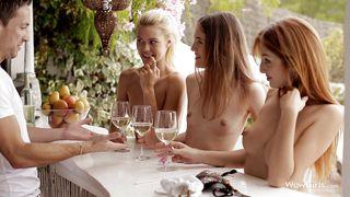 Beautiful Girls Team Up To Suck His Dick
