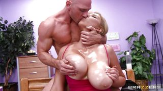 Teacher Gets Her Tits Oiled