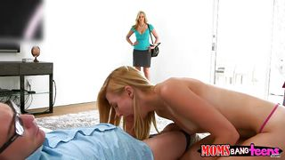Mother And Daughter Fuck A Teen