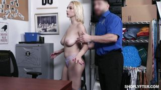 Busty Teen Was Face Fucked By A Watchful Guard