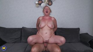 Busty Mature Likes Cum