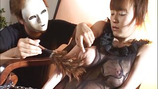 Masked Master Teases A Slut With Ample Breasts