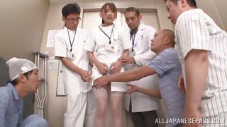 Cute Nurse Jerks Off Everyone In The Er