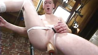 Dork Fucks His Ass In The Locker Room
