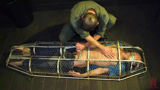 Caged Sex-slave Was Punished And Face Fucked
