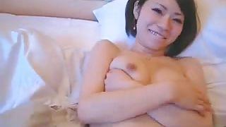 Asian Gf Videos-Sexy Japanese Cutie Lays Back And Takes It Deep PornZek.Com