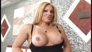 Big Boobed Tranny Has Threesome  Girls Who Love Transsexuals #04