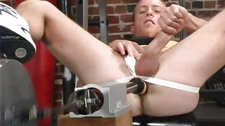 Stroking It While Being Butt Fucked