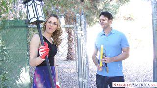Jillian Gave Her Neighbor A Blowjob For His Birthday
