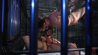The Hottest Guys Fucking Behind The Bars